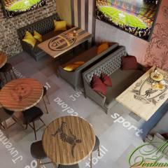 Проект кафе: Столовые комнаты в . Автор – Компания архитекторов Латышевых 'Мечты сбываются', Эклектичный