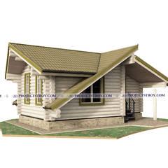 Садовый дом и хозблок из бревна: Деревянные дома в . Автор – Projectstroy