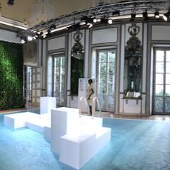 Allestimento di eventi con Wall forest Hedera: Pareti in stile  di Green Habitat s.r.l.