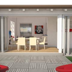 بيت زجاجي تنفيذ Della Bona & Fiorentini Studio di Architettura