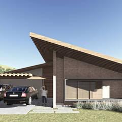 Casa da Fotógrafa - Fachada Frontal: Casas familiares  por ARAMADO arquitetura+interiores