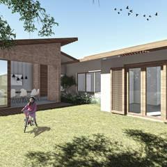 CASA DA FOTÓGRAFA: Jardins de fachadas de casas  por ARAMADO arquitetura+interiores