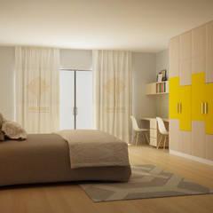 Natural Colour Wardrobe:  Bedroom by Decopad Interiors,