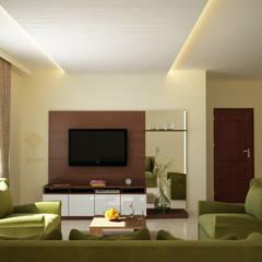 TV Unit – Cogent:  Living room by Decopad Interiors,