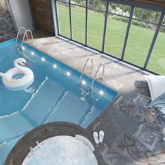 Дизайн бани в загородном доме: Бассейн в . Автор – Студия авторского дизайна ASHE Home