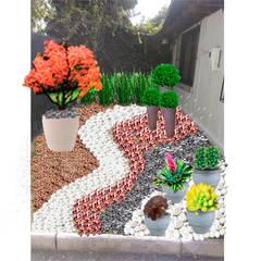 Jardín seco: Jardines con piedras de estilo  por Vida Verde
