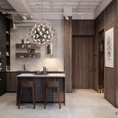 Moscow loft: Кухни в . Автор – Diff.Studio