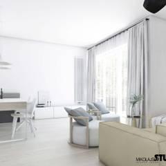 kącik jadalny w salonie: styl , w kategorii Jadalnia zaprojektowany przez MIKOŁAJSKAstudio