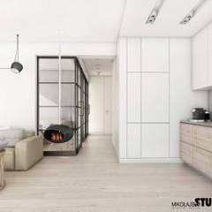 zabudowa kuchenna: styl , w kategorii Kuchnia na wymiar zaprojektowany przez MIKOŁAJSKAstudio