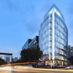 CENTRO EMPRESARIAL VOLTERRA : Oficinas de estilo moderno por bvtarquitecto