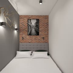: Dormitorios de estilo escandinavo por AIN projektowanie wnętrz