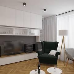 : Livings de estilo  por AIN projektowanie wnętrz