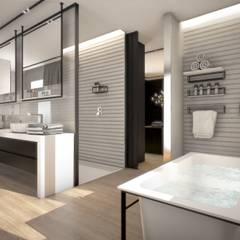 Vivienda de Lujo en Ciudalcampo: Baños de estilo moderno de Estudio Arinni S.L.