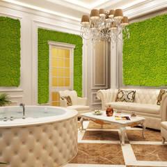 SALA RELAX GIARDINO VERTICALE: Hotel in stile  di Green Habitat s.r.l.