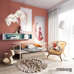 Mieszkanie przy Bażantarni: styl , w kategorii Pokój dla dziwczynki zaprojektowany przez MIKOŁAJSKAstudio
