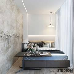 Niewielka sypialnia: styl , w kategorii Sypialnia zaprojektowany przez MIKOŁAJSKAstudio
