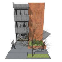 Edificio Multifamiliar_Ciudad Modelo: Casas multifamiliares de estilo  por MODOS Arquitectura