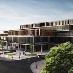 Milimetrekare Tasarım ve Mimarlık – Süleymanpaşa Belediye Hizmet Binası - Protokol giriş cephesi:  tarz Merdivenler