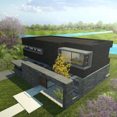 CASA SC: Casas unifamiliares de estilo  por Speziale Linares arquitectos