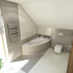 ห้องน้ำ โดย MARENGO ARCHITEKTURA WNĘTRZ,