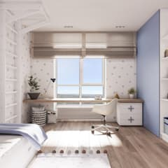 light and blue jugendzimmer von tobi architects