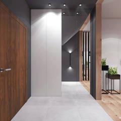 Projekt  poddasza domu w Libertowie.: styl , w kategorii Korytarz, przedpokój zaprojektowany przez MADO DESIGN