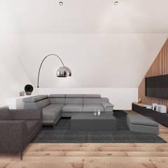 Projekt  poddasza domu w Libertowie.: styl , w kategorii Salon zaprojektowany przez MADO DESIGN