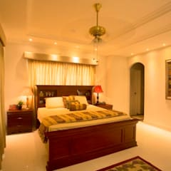 The House of Arches:  Bedroom by S Squared Architects Pvt Ltd.