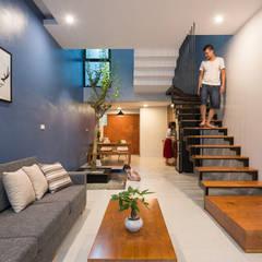 Living room by Công ty TNHH Thiết Kế Xây Dựng Song Phát