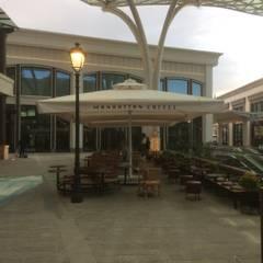 Akaydın şemsiye – MANNATTAN COFFE ŞEMSİYESİ: modern tarz Kış Bahçesi