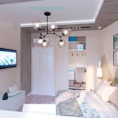 Chambre d'adolescent de style  par Дизайн студия 'Дизайнер интерьера № 1'