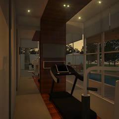 Casa G+B: Fitness  por Fabíola Escobar - Pratique Arquitetura