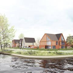 Waterwoningen Meerstad Groningen:  Eengezinswoning door NOHNIK architecture and landscapes
