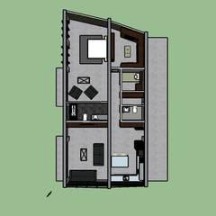 ARQUITECTURA. Casa Geyer: Casas unifamiliares de estilo  por Proyectos Kukenán SAS, Ecléctico