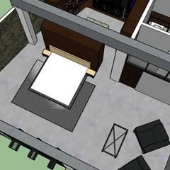 ARQUITECTURA. Casa Geyer: Habitaciones de estilo  por Proyectos Kukenán SAS