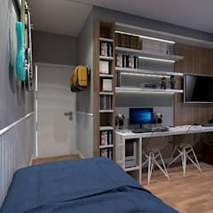 Teen bedroom by LK Studio Arquitetura