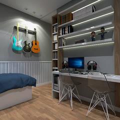 Chambre d'adolescent de style  par LK Studio Arquitetura