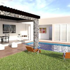 Diseño exterior: Jardines de estilo minimalista por ARCHIMINIMAL ESTUDIO