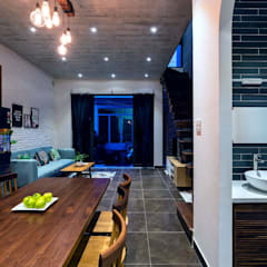 Thiết Kế Nhà 3 Tầng 5x8m Thoáng Mát Với Chi Phí 900 Triệu Ở Gò Vấp:  Phòng ăn by Công ty TNHH Xây Dựng TM – DV Song Phát