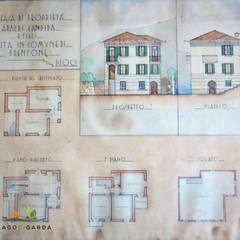 Historischer Plan:  Villa von Lago di Garda Immobilien