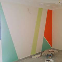 Mrs. Samar's Appartment :  غرفة الاطفال تنفيذ Etihad Constructio & Decor,