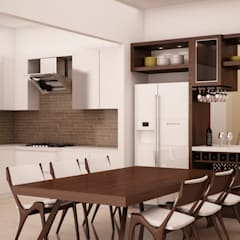 Dining area fixed and loose furnitures:  Dining room by NVT Quality Build solution