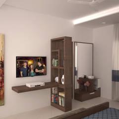 Dresser and TV unit : modern Dressing room by NVT Quality Build solution