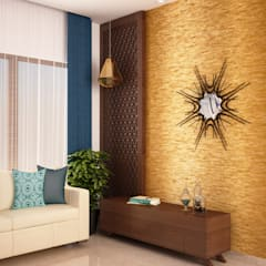 Living area wall:  Walls by NVT Quality Build solution