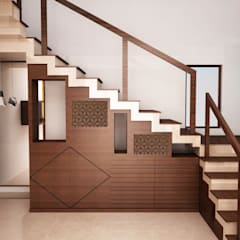 Stairs storage with display  :  Stairs by NVT Quality Build solution