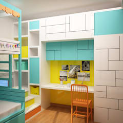 Kids colorful but simple room :  Nursery/kid's room by NVT Quality Build solution