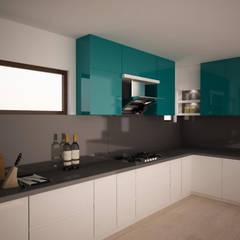 Kitchen Render - Triple colour combo :  Kitchen by NVT Quality Build solution