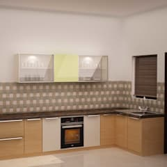 Simplified kitchen 01:  Kitchen by NVT Quality Build solution