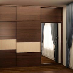 Wardrobe in sliding style: scandinavian Bedroom by NVT Quality Build solution