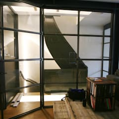 Renovatie Woonhuis Amsterdam:  Trap door YBB Architecture Amsterdam
